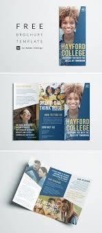 One Page Brochure Design Inspiration Free College Brochure Template Simple Tri Fold Design