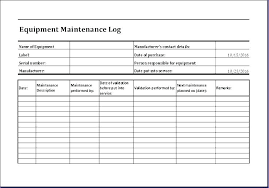 Equipment Service Log Template Free Collection Password Log Book Template And Best Station