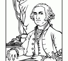 Small Picture George washington coloring page bluebonkers us presidents coloring