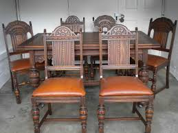 Chair Antique Tables Dining Game French Oak Table And Chairs - Early american dining room furniture