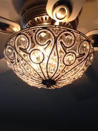 light rubbed white chandelier ceiling fan light kit chandelier