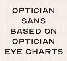 Eye Chart Typeface Free Font Optician Sans Free Font Based On Optician Eye