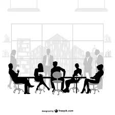 meeting free business meeting silhouettes vector free download
