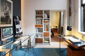 Home office decorating ideas nyc Ikea Innovative Sawhorse Desk Look New York Contemporary Home Office Decorating Ideas With Affordable Art Artwork Black Irastar Innovative Sawhorse Desk Look New York Contemporary Home Office