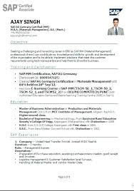 Sap Sd Sample Resume Best Solutions Of Sap Resumes Sap Consultant