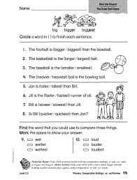 Consonants, blends, digraphs, short and long vowels, glued sounds, and diphthongs are included. Phonics Comparative Endings Er Est Review Worksheet For 1st 2nd Grade Lesson Planet