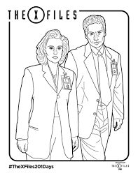 the x files coloring book