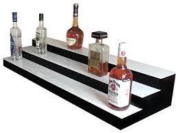 Bar Bottle Display Stand Unique LED Lighted Bar Stand Liquor Bottle Display Shelving Unit Organizer