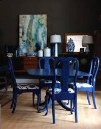 blue dining room set. Dining Room Set Painted By Sisters Unique With Annie Sloan Chalk Paint®. Chairs Were Blue T