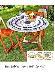 round table cover with elastic mosaic tile elastic fitted vinyl outdoor round patio table cover tablecloth