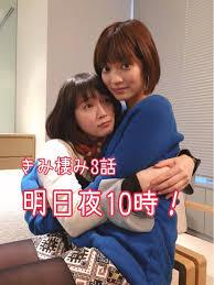 吉岡里帆に抱き着かれている田中真琴