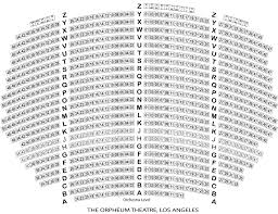 Orpheum Sf Seating Chart Seating Chart La Orpheum