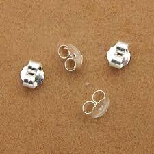 art 10pcs 925 silver earrings back findings accessories fit stud earrings clasp earring stopper diy earring fashion jewelry making clearance s