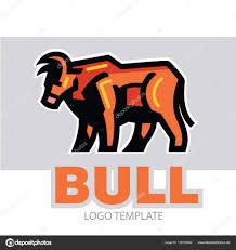 картинка быка стилизованный рисунок быка векторное изображение