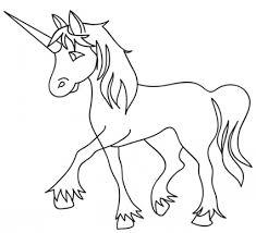 Disegno Di Un Unicorno Per Bambini Da Stampare Gratis E Colorare
