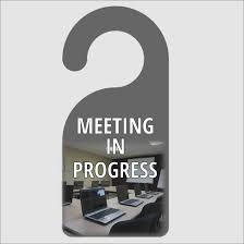 Meeting In Progress Door Hanger