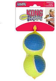 <b>KONG игрушка</b> для собак <b>Ultra</b> Squeak мячик большой 2 шт. в уп ...