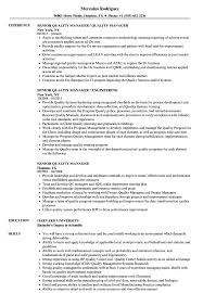 Quality Manager Resume Senior Quality Manager Resume Samples Velvet Jobs 12