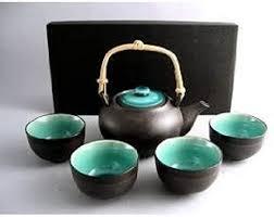 Amazon.com   Japanese Ocean Blue Five Piece Teaset: Tea Services: Teacups