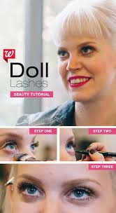 doll like lashes drawn from 60s mod makeup create a beautiful