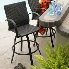 bar stools stylish outdoor wicker bar stool patio with all weather stools and leather finish swivel