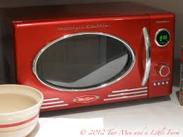 Red Retro Kitchen Accessories Two Men And A Little Farm Retro Red Microwave For The Farm