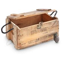 Wooden Crate With Handles Used Us Military Surplus Wooden Grenade Box Project Military