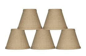 clip on chandelier shades urbanest lamp shade 6 inch hardback burlap diy clip on chandelier shades