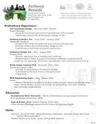 Amazing Architecture Resume Objective For Landscaping Resume