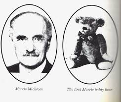 「On February 15, 1903, Teddy bears go on sale for the first time when toy store owner and inventor Morris Michtom places two of the stuffed animals in his shop window.」の画像検索結果