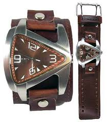 wide band cuff watches nemesis wideband leather cuffwatches nemesis brown teardrop cuff watch