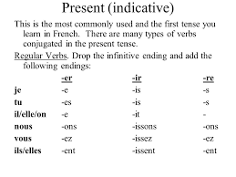French Verbs Ppt Video Online Download