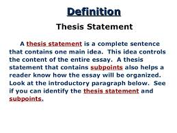 the thesis statement a road map for your essay what s a thesis statement 3
