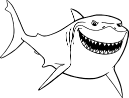 Disney Finding Nemo Bruce Shark Just Coloring Pages Wecoloringpagecom