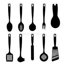kitchen utensils split silhouette. Wonderful Split Download Kitchen Utensil Silhouettes Collection Stock Vector  Illustration  Of Handle Aluminum 15934500 For Utensils Split Silhouette I