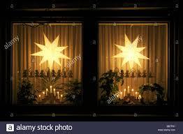 Festliche Tage Advent Weihnachten Wohnhaus Fenster