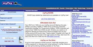 mypay dfas mil access your pay