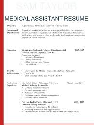 Medical Assistant Resume Cover Letter Medical Assistant Resume