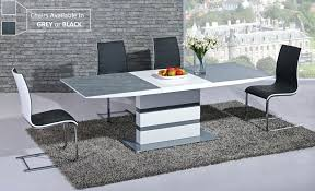 black gloss dining table dazzling grey gloss dining table contemporary and chairs white kitchen black set
