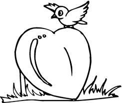 Vogeltje Op Het Hart Kleurplaat Gratis Kleurplaten Printen