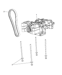2012 dodge avenger balance shaft oil pump assembly thumbnail 3