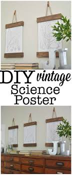 DIY Vintage Science Poster