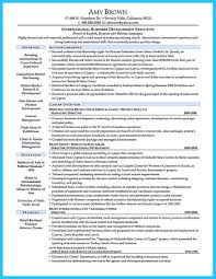 International Business Resume Objective Career Medium Size Of Trade