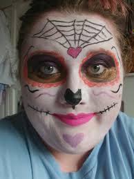 sugar skull makeup by jamdoughnutmagician