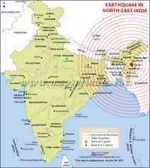 Strong tremors were felt in delhi and surrounding areas for several seconds. Areas Affected By Earthquake In India Bihar West Bengal Assam Map In News