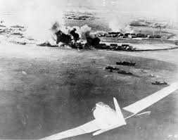 abe s pearl harbor will do little to dispel theories  a ese bomber is seen in the foreground in a photograph taken by a ese pilot