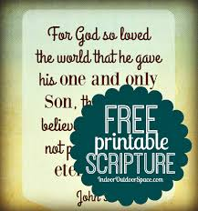 Free blank printable scripture cards. Free Scripture Art Download To Print From John 3 16 Indoor Outdoor Space