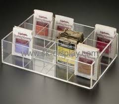 Tea Bag Display Stand Extraordinary Elegant Clear Acrylic Tea Bag Display Box With Dividers FD32