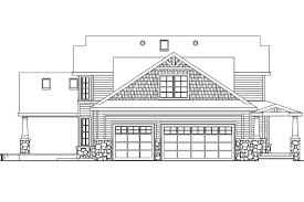 Craftsman House Plans   Tillamook     Associated Designs    Bungalow House Plan   Tillamook     Right Elevation