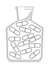 Hoestdrank Kleurplaat Schwarzen Und Weien Cartoon Wasserflasche